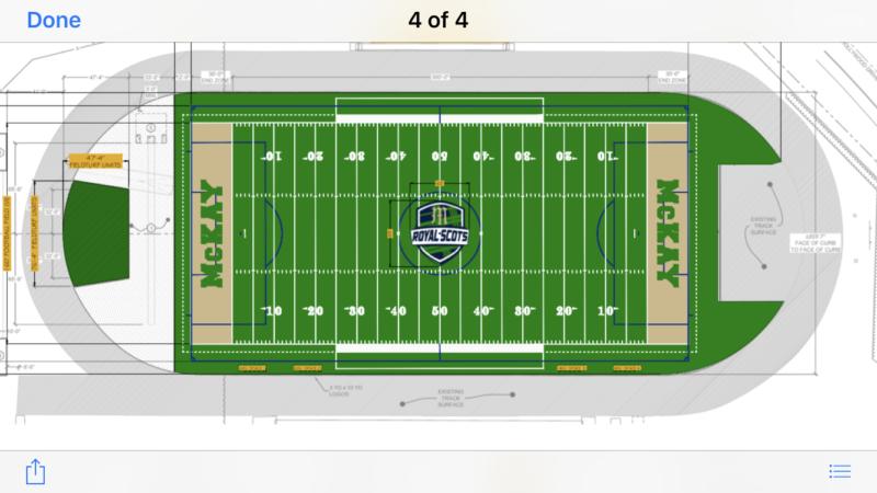 Diagram of McKay Turf Field