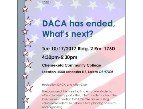 DACA has ended, What's next? Oct 17, 2017 at Chemeketa