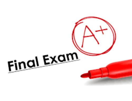 McKay Final Exam Schedule for Semester 1