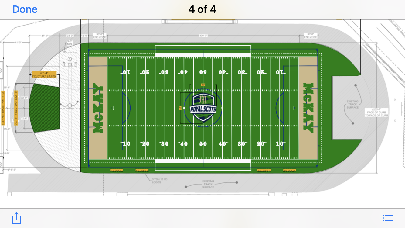 Diagram of McKay Turf Field