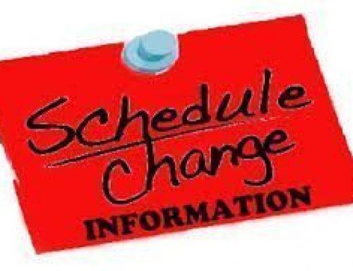 The Online Schedule Change Request form is OPEN!