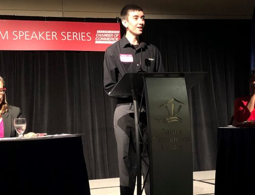 McKay Banking Program Student Shines at Salem Chamber Luncheon