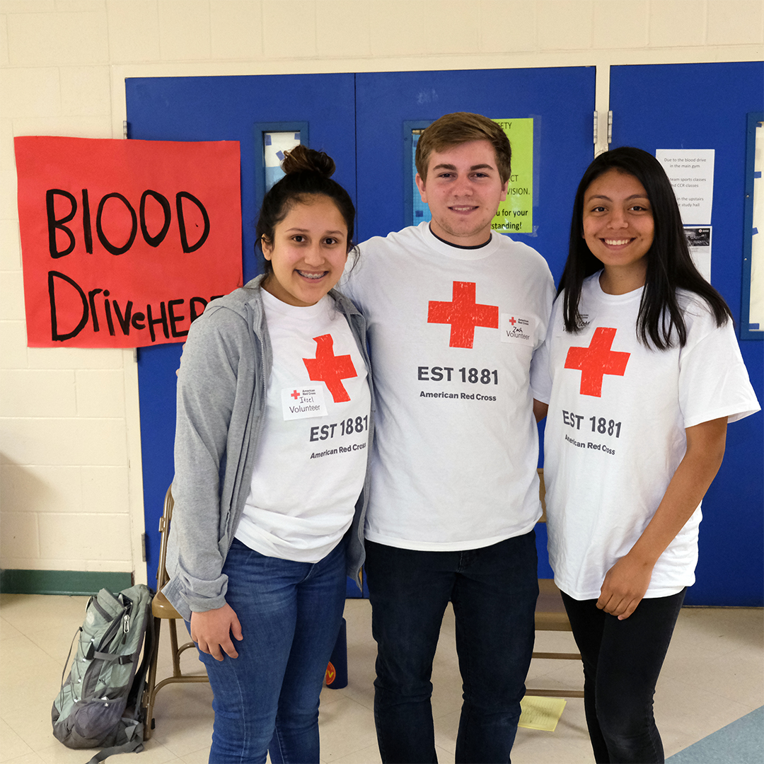 McKay Student Help the Red Cross