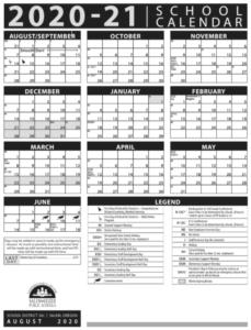 20-21 Calendar-English