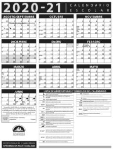 20-21 Calendar with sidebar
