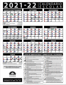 21-22 A-B Calendar-Spanish