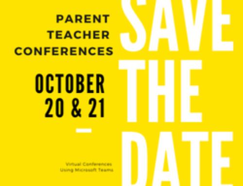 Parent Teacher Conferences October 20 & 21